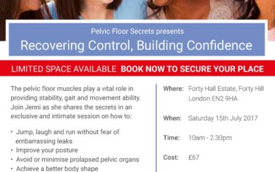 Jenni's July Recovering control, building confidence workshop